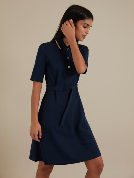 Платье с воротником поло - фото 3