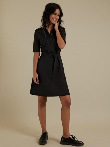 Платье с воротником поло - фото 1
