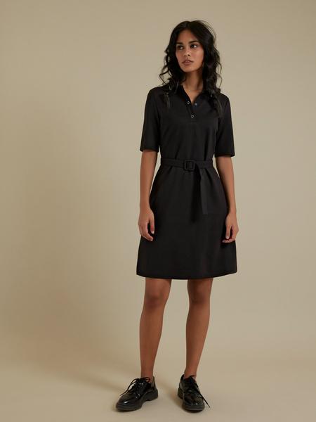 Платье с воротником поло - фото 4