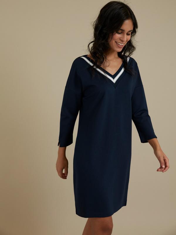 Платье с V-образным вырезом - фото 2
