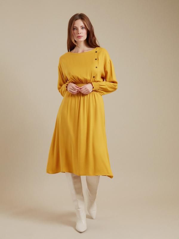 Платье-миди 100% вискоза