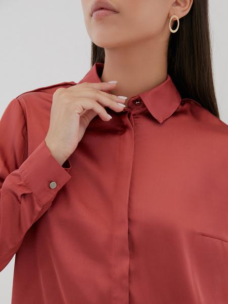 Атласная блузка оверсайз - фото 3