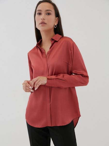 Атласная блузка оверсайз - фото 6