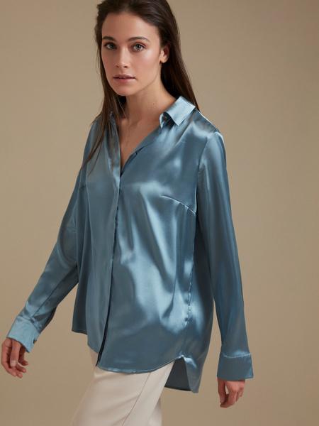 Атласная блузка оверсайз - фото 1