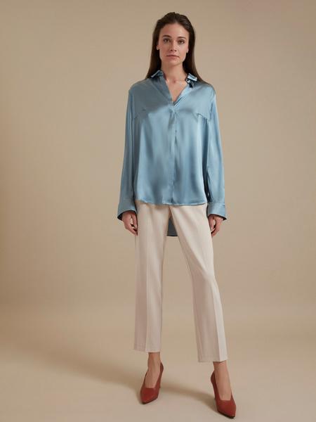 Атласная блузка оверсайз - фото 5