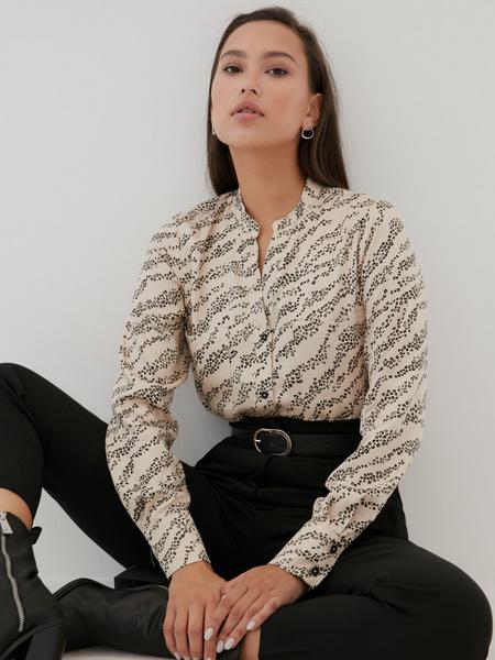 Блуза с V-образным вырезом 100% вискоза - фото 3