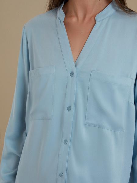Блуза с V-образным вырезом 100% вискоза - фото 2