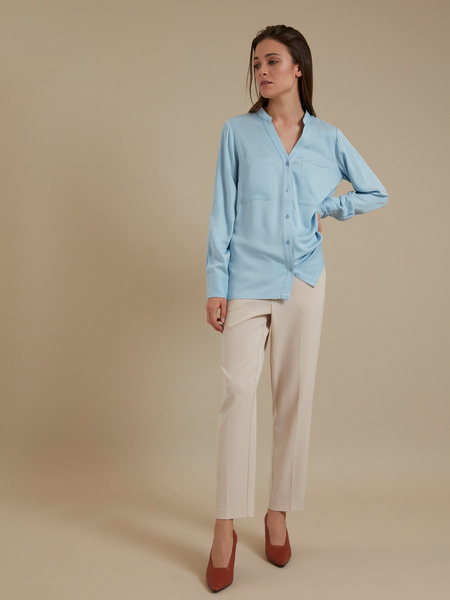 Блуза с V-образным вырезом 100% вискоза - фото 5