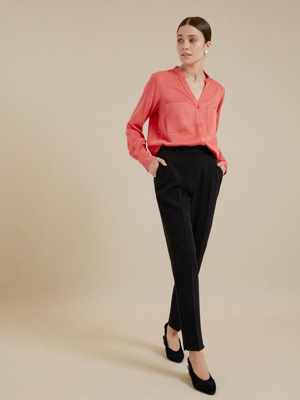 Блуза с V-образным вырезом 100% вискоза - фото 1