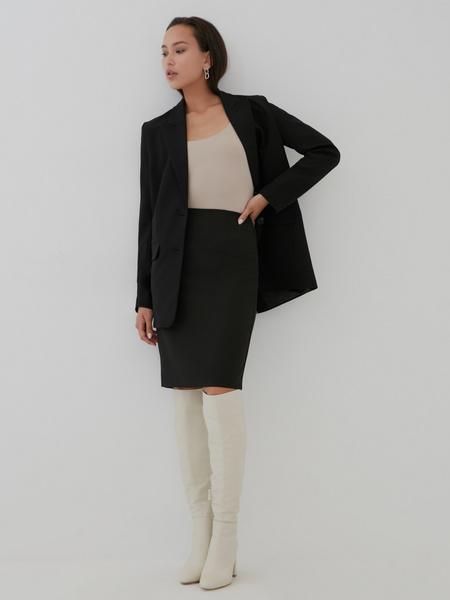 Облегающая юбка-миди с разрезом - фото 1