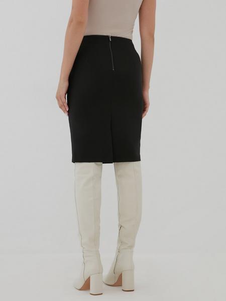 Облегающая юбка-миди с разрезом - фото 4