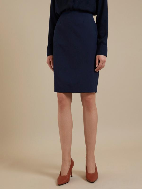 Облегающая юбка-миди с разрезом