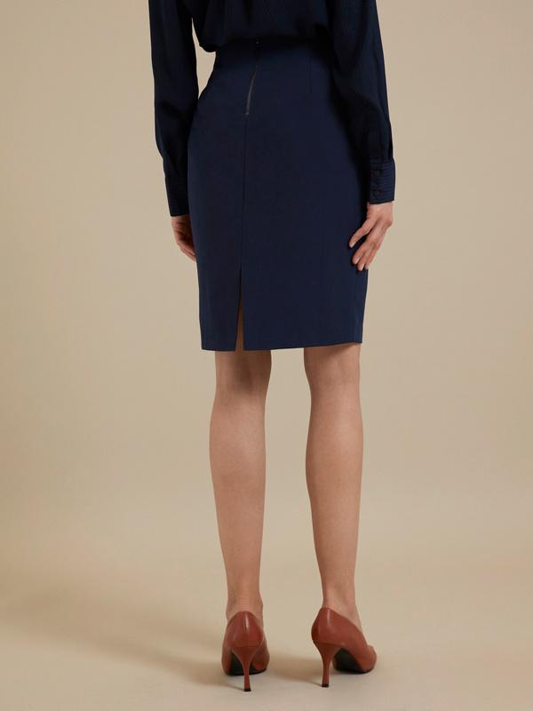 Облегающая юбка-миди с разрезом - фото 2
