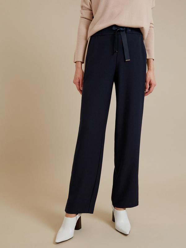 Широкие брюки на завязках с разрезами - фото 3