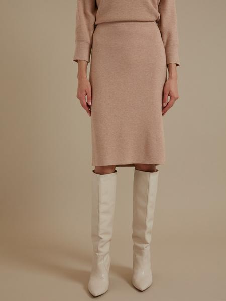 Трикотажная юбка-миди - фото 1