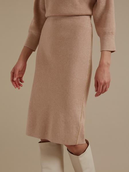 Трикотажная юбка-миди - фото 2