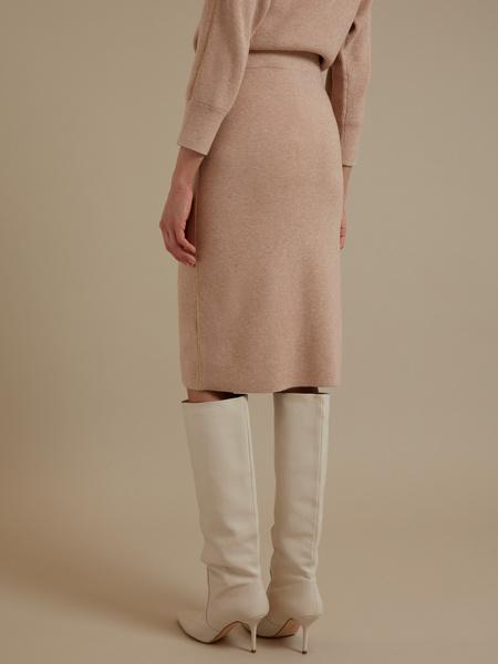 Трикотажная юбка-миди - фото 3