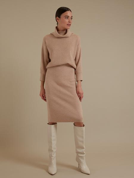 Трикотажная юбка-миди - фото 5