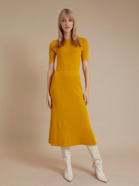 Трикотажное платье-миди - фото 1