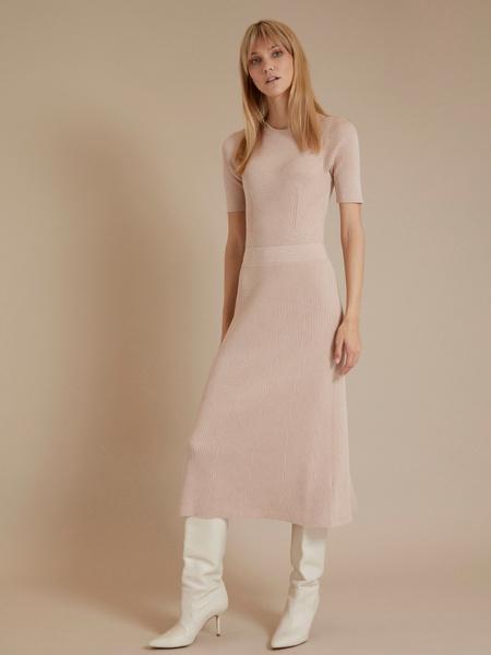 Трикотажное платье-миди - фото 3
