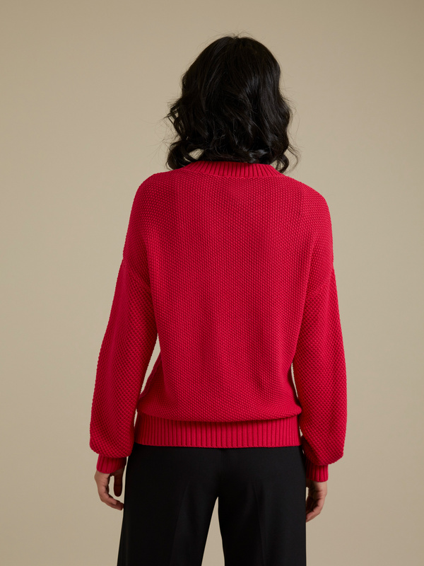 Джемпер комбинированной вязки - фото 4