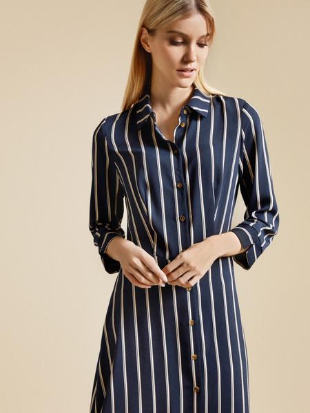 Приталенное платье-рубашка - фото 2