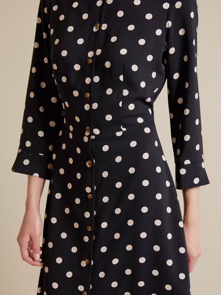 Приталенное платье-рубашка - фото 3