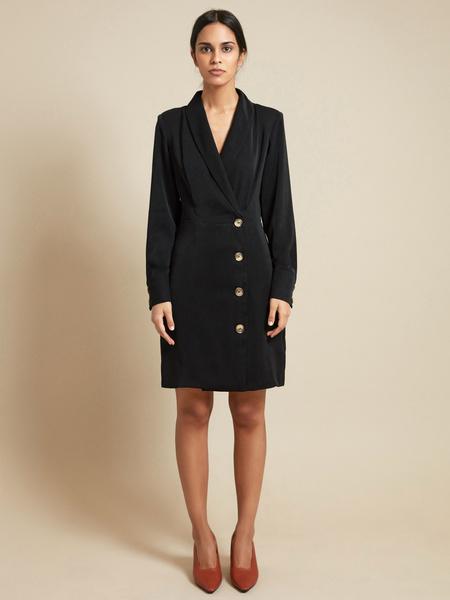 Платье-пиджак с пуговицами - фото 4