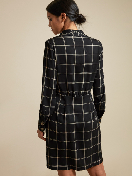 Платье-пиджак с пуговицами - фото 5