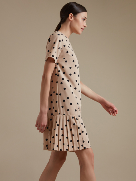 Платье-миди с плиссировкой - фото 2