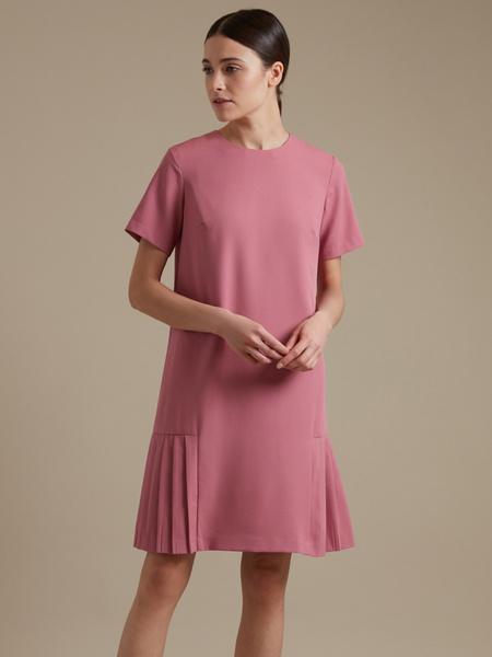 Платье-миди с плиссировкой - фото 1