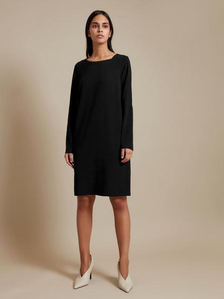 Платье-миди с декоративным элементом - фото 2