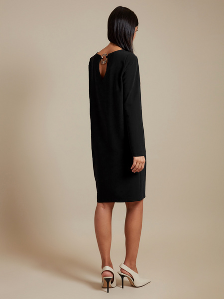 Платье-миди с декоративным элементом - фото 3