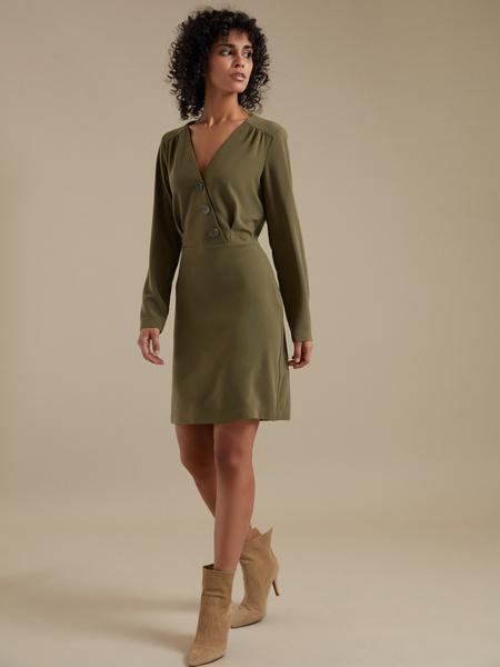 Платье-мини с пуговицами - фото 1
