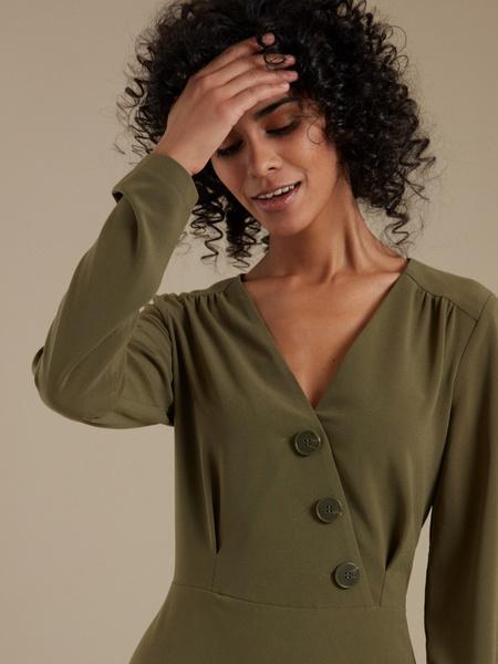 Платье-мини с пуговицами - фото 3