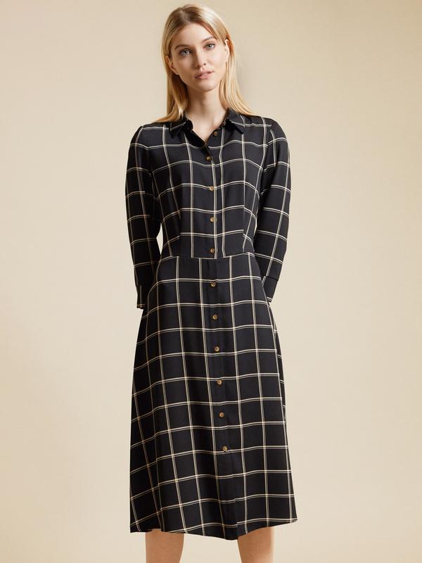 Приталенное платье-рубашка - фото 1