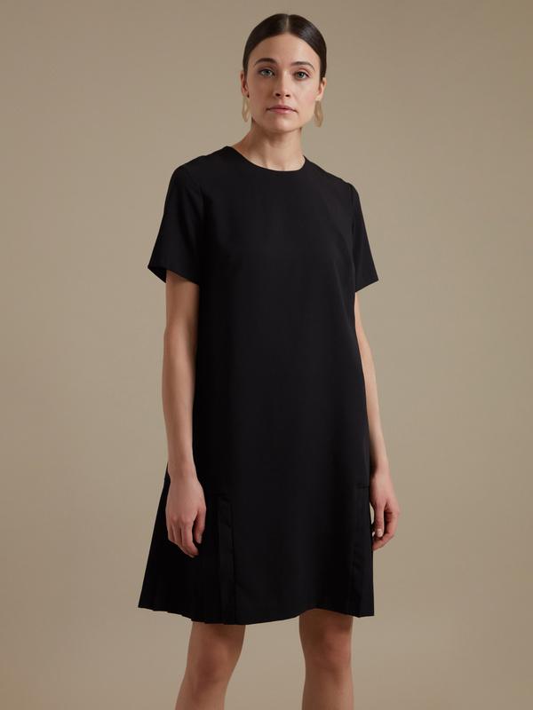 Платье-миди с плиссировкой