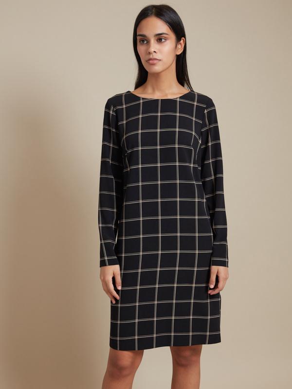 Платье-миди с декоративным элементом - фото 1
