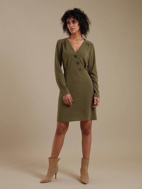 Платье-мини с пуговицами - фото 2