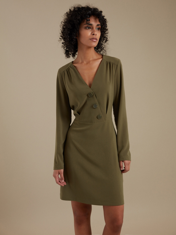 Платье-мини с пуговицами - фото 4