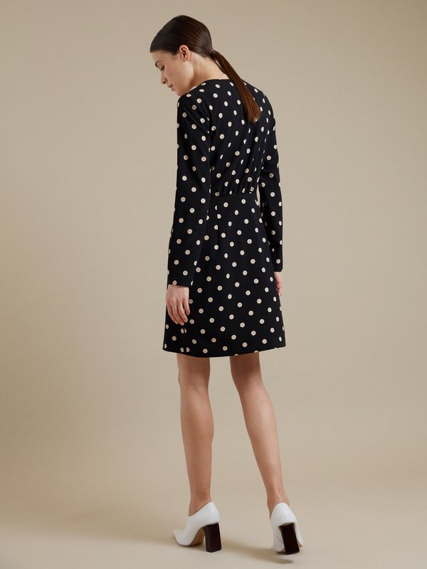 Платье-мини с пуговицами - фото 5