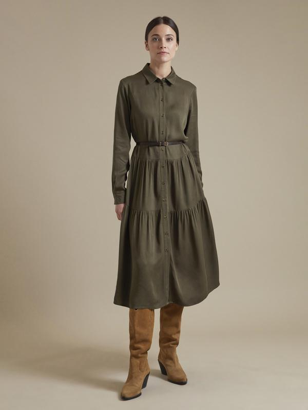 Платье-миди с ремешком 100% вискоза - фото 3