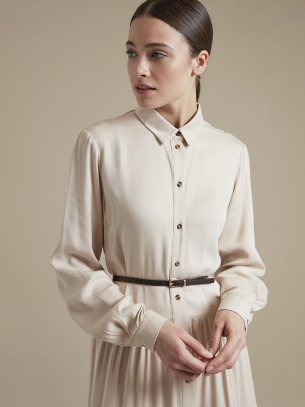 Платье-миди с ремешком 100% вискоза - фото 2