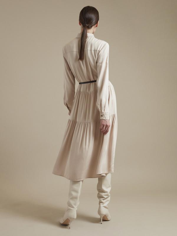 Платье-миди с ремешком 100% вискоза - фото 5