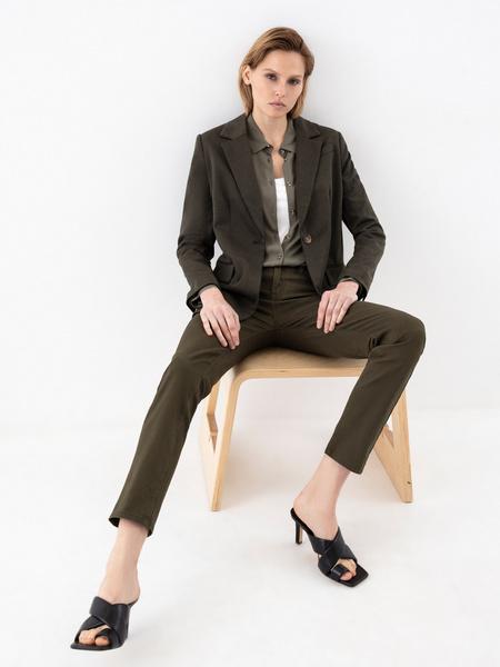 Блузка с накладным карманом - фото 6