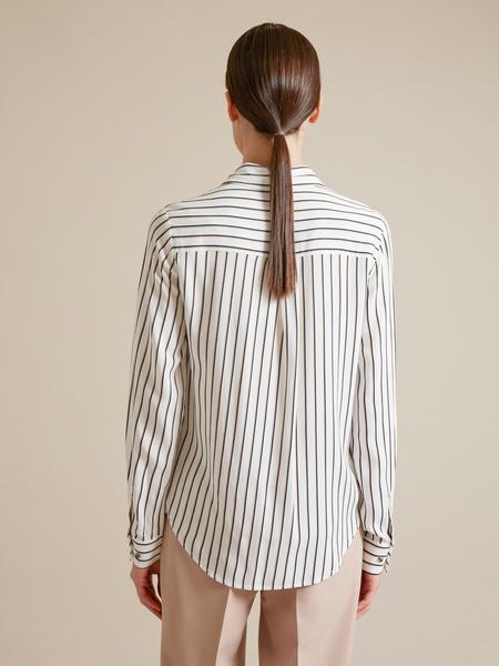 Блузка с накладным карманом - фото 4