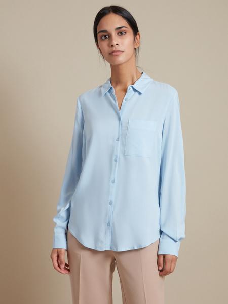 Блузка с накладным карманом