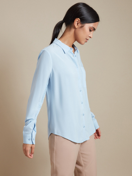 Блузка с накладным карманом - фото 2