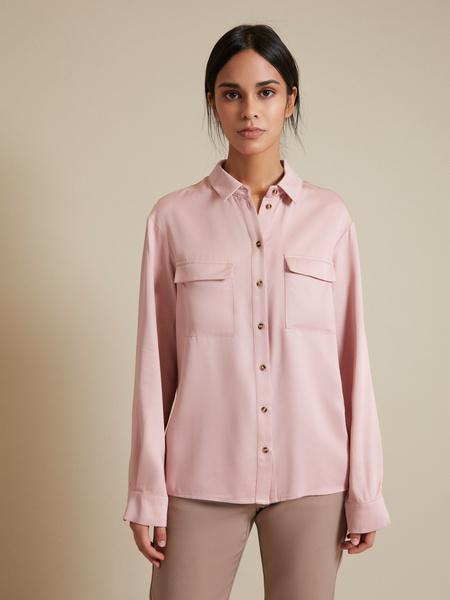 Блузка с накладными карманами 100% вискоза