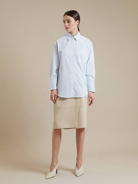 Удлиненная рубашка оверсайз - фото 4